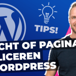 Bericht of pagina dupliceren in WordPress