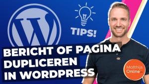 Bericht of pagina dupliceren in WordPress