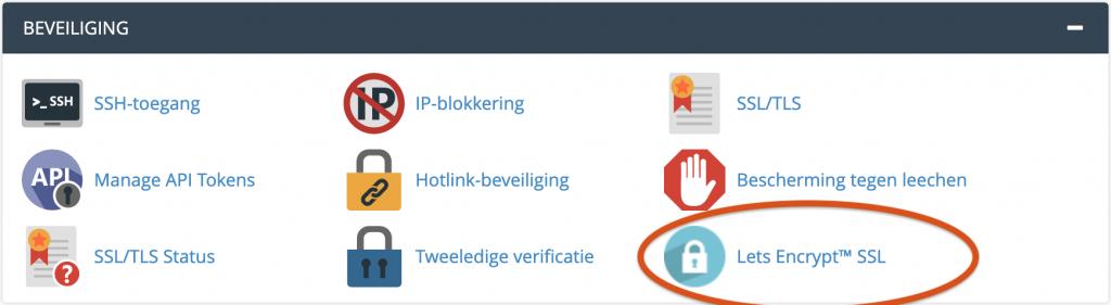 Beveiliging Lets encrypt SSL