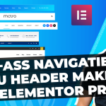 Navigatie menu maken Elementor Pro