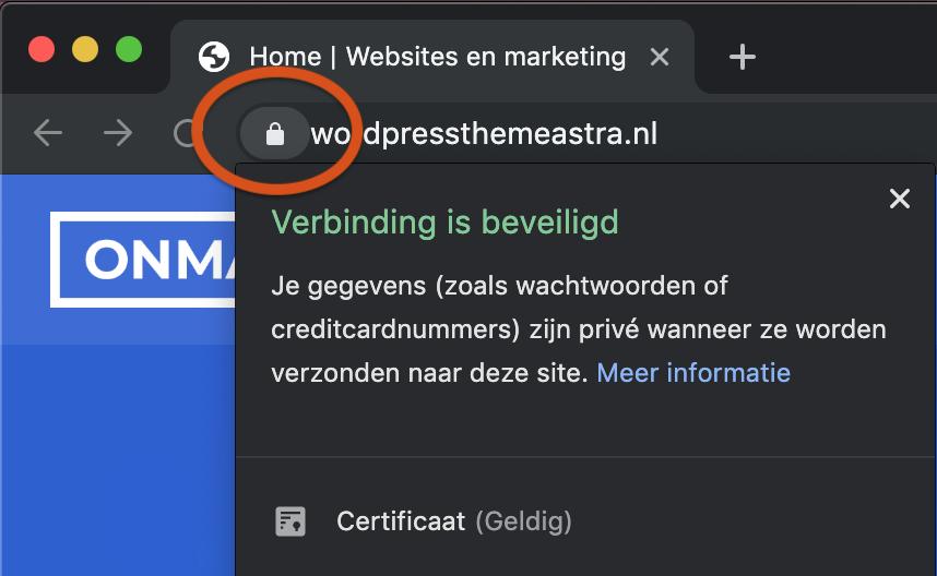 Website beveiligen met SSL