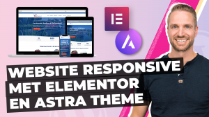 Website responsive maken Elementor Astra theme