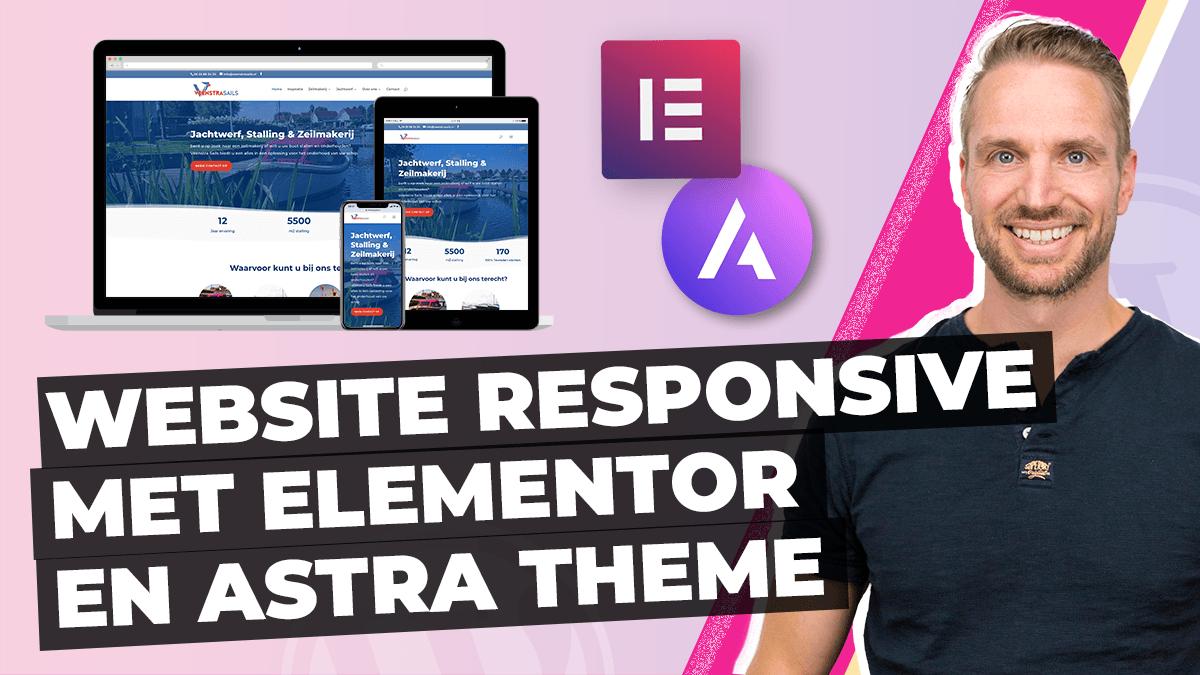 Website responsive maken Elementor Astra theme